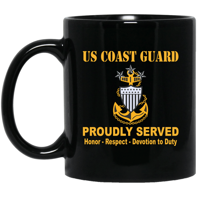 US Coast Guard E-9 Master Chief Petty Officer Of The Coast Guard E9 MCPOC Senior Enlisted Advisor Collar Device 11 oz - 15 oz Black Mug