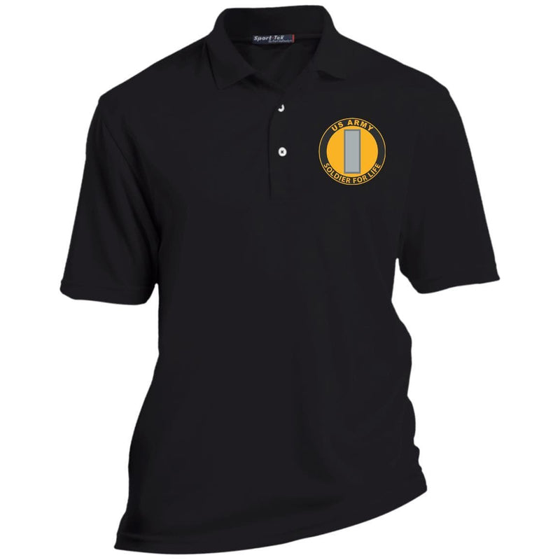 US Army O-2 First Lieutenant O2 1LT Soldier For Life Embroidered Polo Shirt