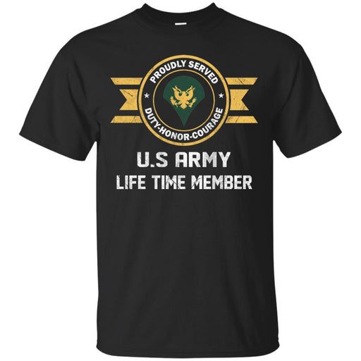 Life Time Member - US Army E-4 SPC E4 Specialist Ranks Men T Shirt On Front
