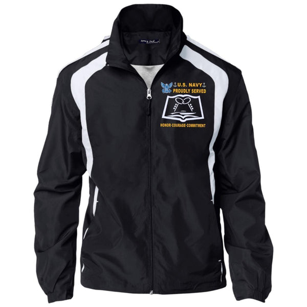 US Navy Culinary Specialist CS - Proudly Served-D04 Embroidered Sport-Tek Jersey-Lined Jacket
