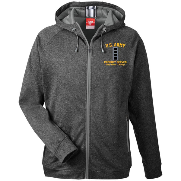 US Army W-4 Chief Warrant Officer 4 W4 CW4 Warrant Officer TT38 Team 365 Men's Heathered Performance Hooded Jacket