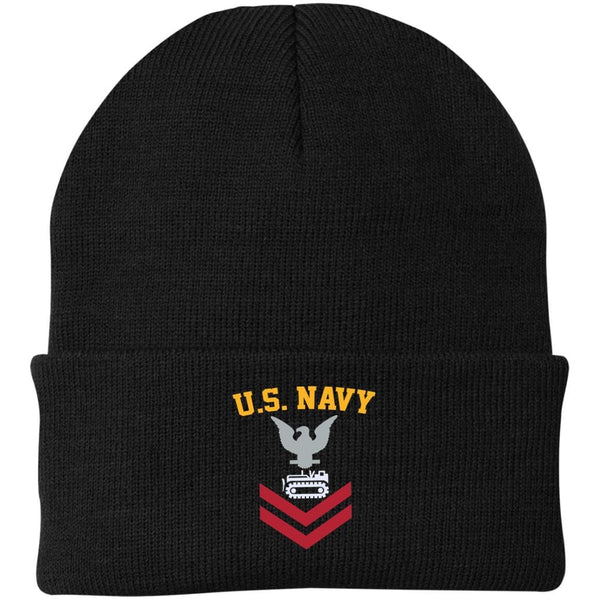 US Navy Equipment Operator EO E-5 Rating Badges Embroidered Port Authority Knit Cap