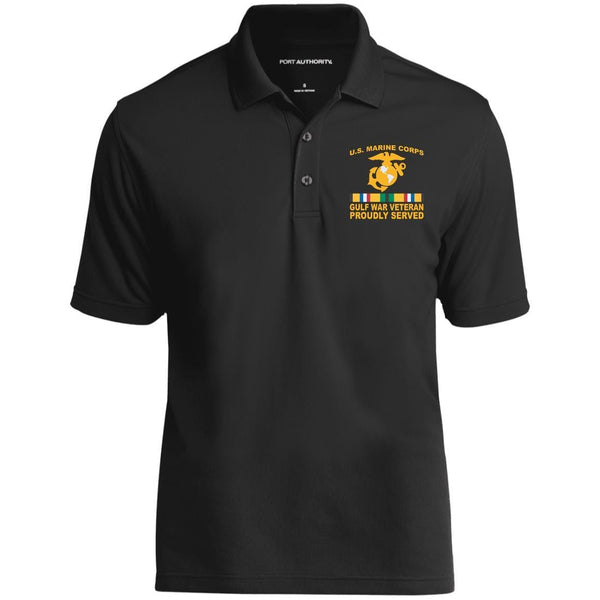 M.Corps Gulf War Veteran Proudly Served Embroidered Port Authority Polo Shirt