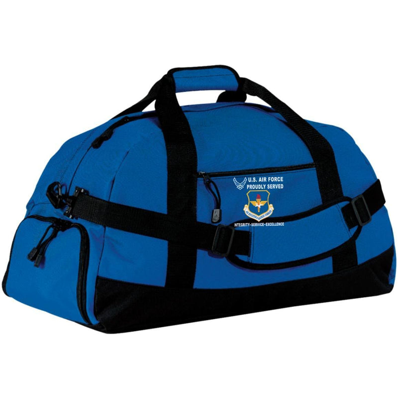 US Air Force Air Education and Training Command Proudly Served-D04 Embroidered Duffel Bag