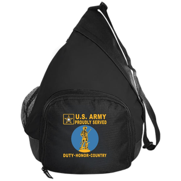 US Army National Guard Badge - Proudly Served-D04 Embroidered Active Sling Pack