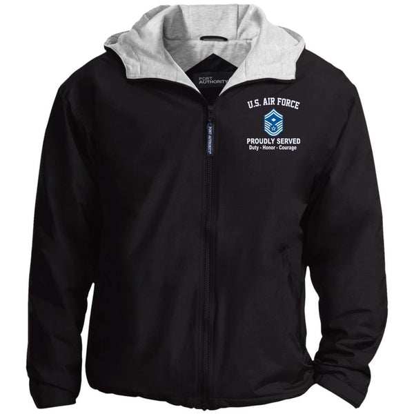 US Air Force E-8 First sergeant E8 Proudly Served Embroidered Port Authority® Hoodie Team Jacket