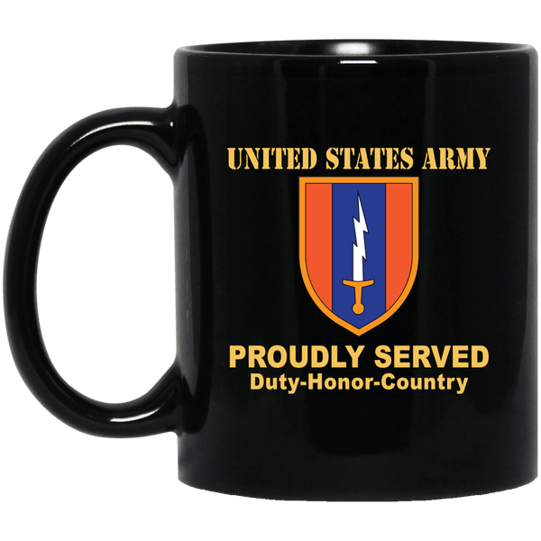 US ARMY 1ST SIGNAL- 11 oz - 15 oz Black Mug