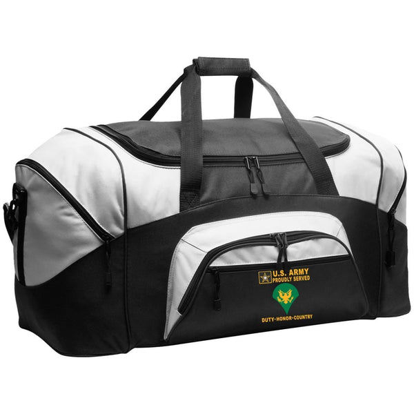 US Army E-4 SPC E4 SP4 Specialist 4 Specialist 3rd Class - Proudly Served-D04 Embroidered Duffel Bag