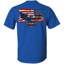 Independence 4 of July Veteran Eagle Flag Men Back T Shirts