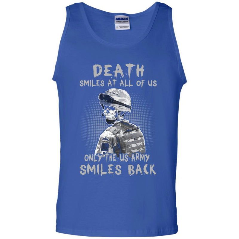 Death Smiles At All Of Us - Only The US Army Smiles Back Men T Shirt On Front