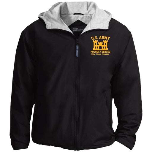 US Army Corps Of Engineers Embroidered Port Authority® Hoodie Team Jacket