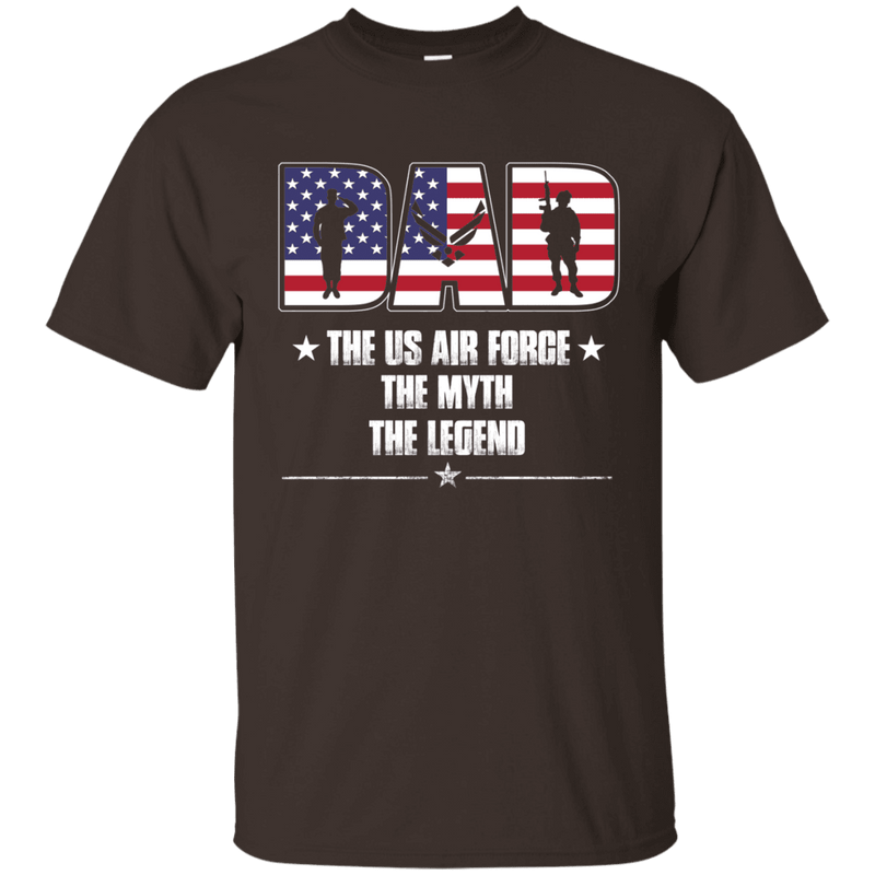 US Air Force Legend Dad Front T Shirts