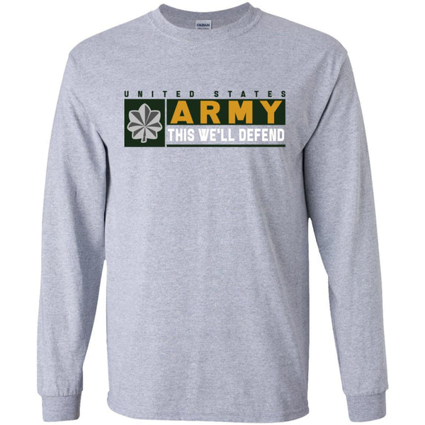 US Army O-5 This We Will Defend Long Sleeve - Pullover Hoodie