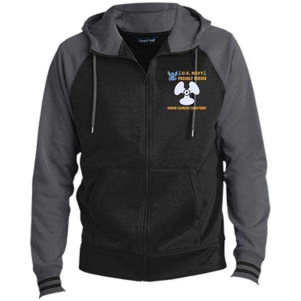US Navy Machinist's Mate MM - Proudly Served-D04 Embroidered Sport-Tek® Full-Zip Hooded Jacket