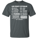 Air Force Veteran Multitasking Sarcasm Men Front T Shirts