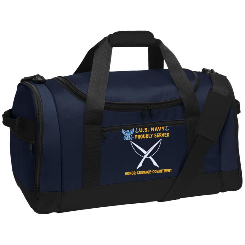 US Navy Yeoman YN - Proudly Served-D04 Embroidered Duffel Bag