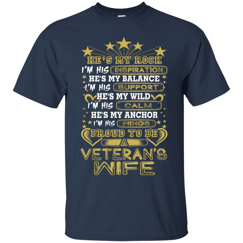 Proud To Be A Veteran's Wife - T Shirt