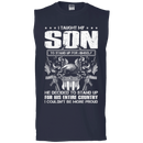 Taught Son Stand up for Country Men Front T Shirts