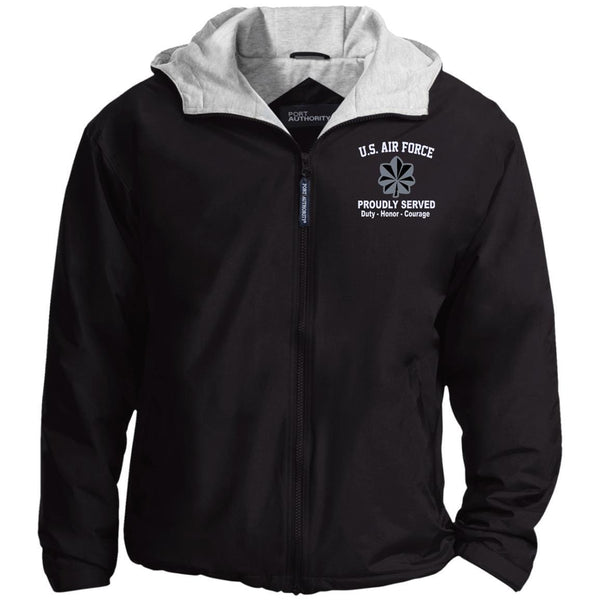 US Air Force O-5 Lieutenant Colonel Lt Co O5 Field Officer Proudly Served Embroidered Port Authority® Hoodie Team Jacket