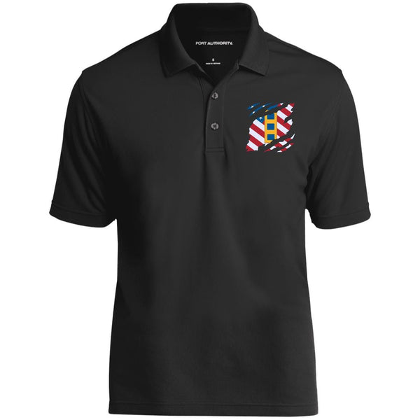US Navy W-2 Chief Warrant Officer 2 W2 CW2 Warrant Officer And American Flag At Heart Embroidered Polo Shirt