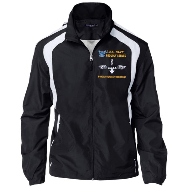 US Navy Antisubmarine Warfare Technician AX - Proudly Served-D04 Embroidered Sport-Tek Jersey-Lined Jacket