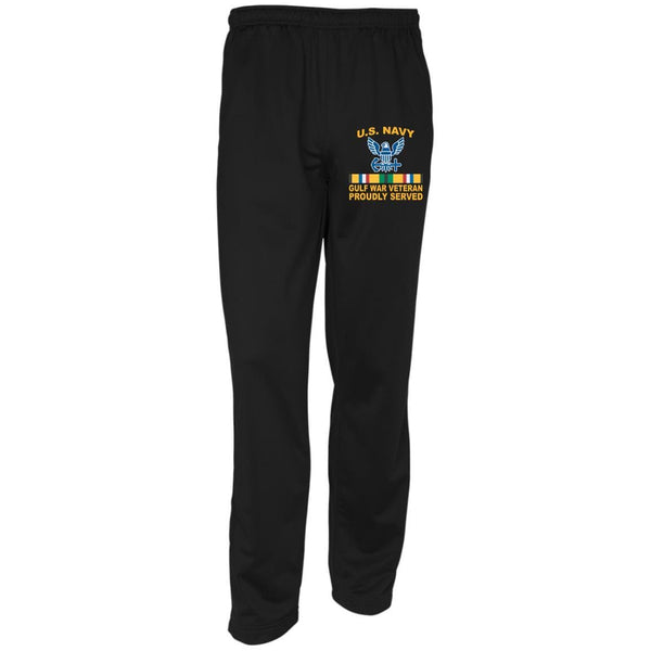 US Navy Gulf War Veteran Proudly Served Embroidered Sport-Tek Warm-Up Track Pants