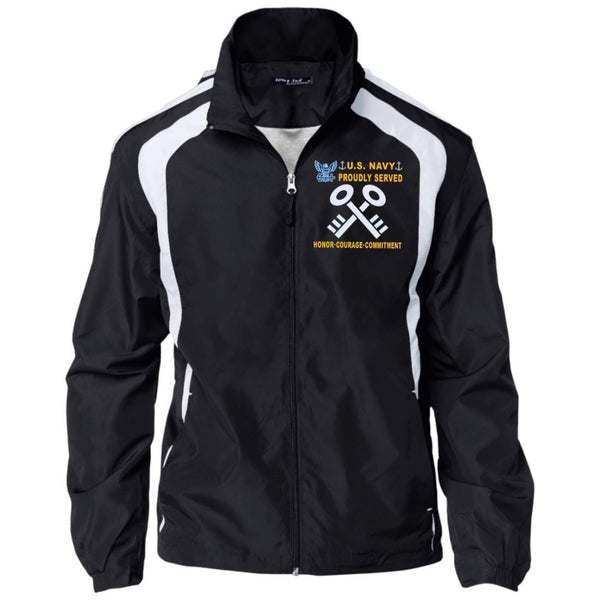 US Navy Storekeeper SK - Proudly Served-D04 Embroidered Sport-Tek Jersey-Lined Jacket