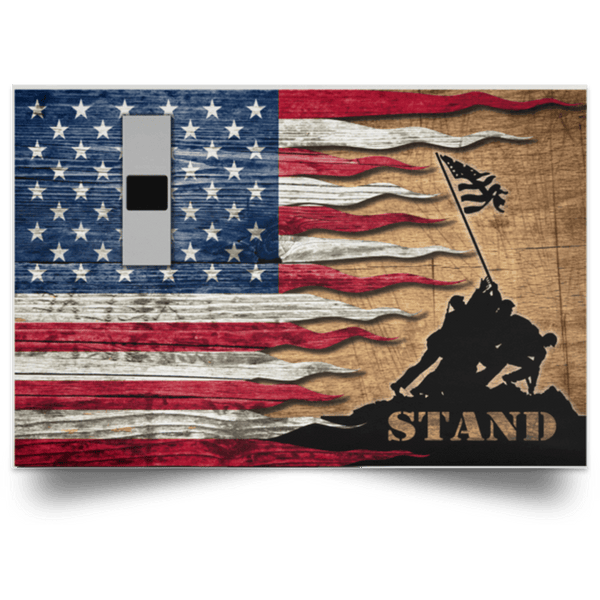 US Army W-1 Warrant Officer 1 W1 WO1 Warrant Officer Stand For The Flag Satin Landscape Poster