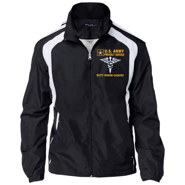 US Army Medical Service Corps - Proudly Served-D04 Embroidered Sport-Tek Jersey-Lined Jacket