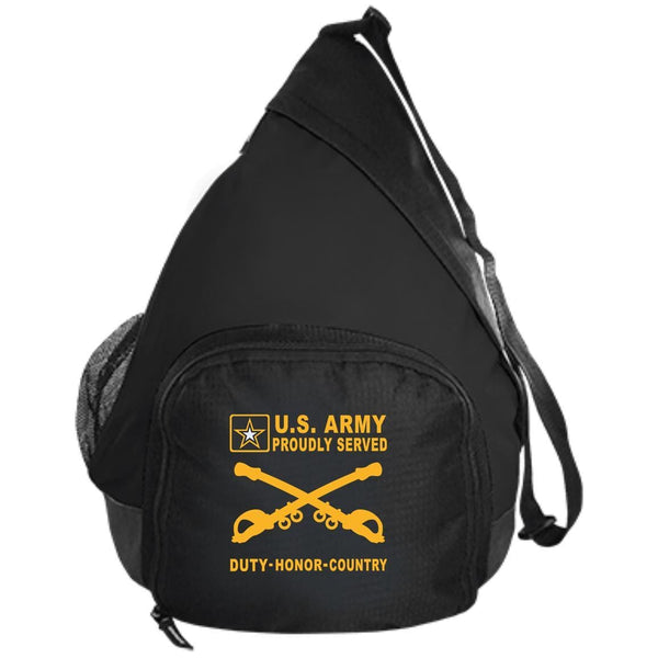 US Army Cavalry - Proudly Served-D04 Embroidered Active Sling Pack