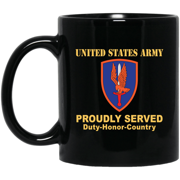 US ARMY 1ST AVIATION BRIGADE- 11 oz - 15 oz Black Mug