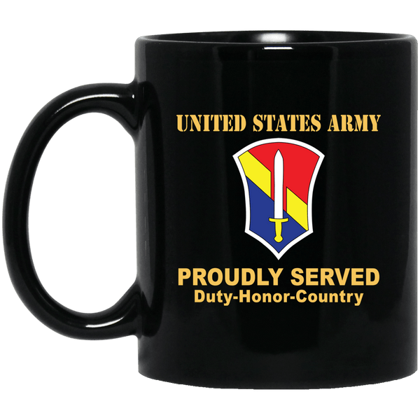 US ARMY 1 FIELD FORCE, VIETNAM- 11 oz - 15 oz Black Mug