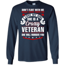 SHE IS A CRAZY VETERAN T SHIRT