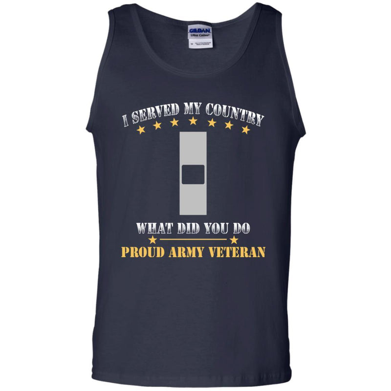 US Army W-1 Warrant Officer 1 W1 WO1 Warrant Officer Ranks Men Front T Shirt - Proud US Army Veteran