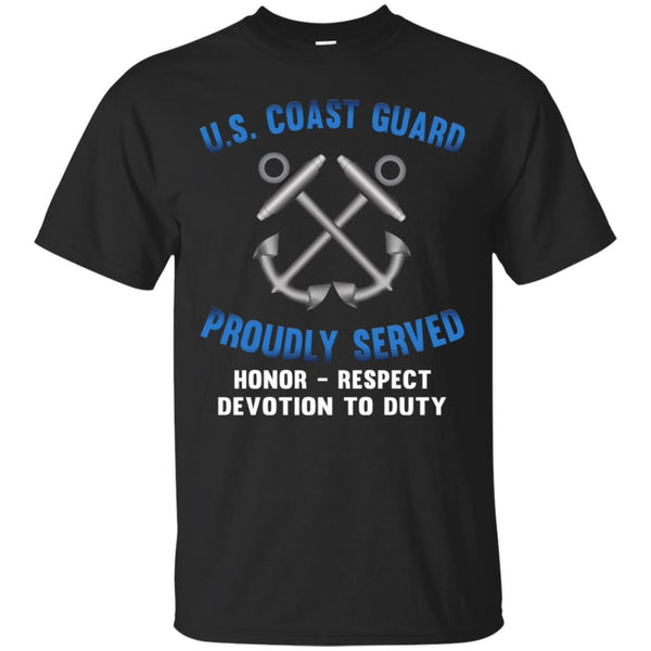 US Coast Guard Boatswains Mate BM Logo Proudly Served T-Shirt For Men On Front