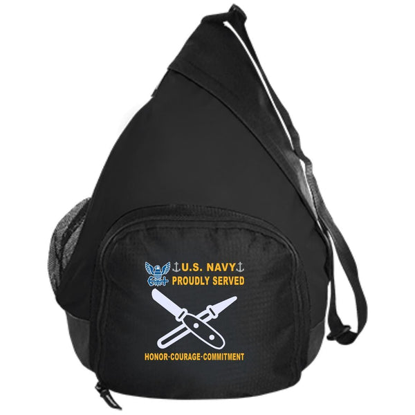 US Navy Lithographer LI - Proudly Served-D04 Embroidered Active Sling Pack