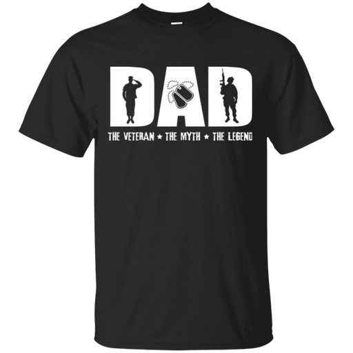 Dad The Veteran - The Myth - The Legend - Women Front T Shirt