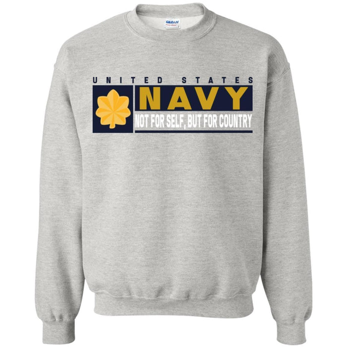 US Navy O-4 Lieutenant Commander O4 LCDR Not For Self, But For Country Long Sleeve - Pullover Hoodie