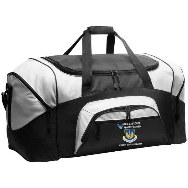 United States Air Forces in Europe Proudly Served-D04 Embroidered Duffel Bag
