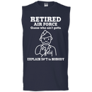 Retired Air Force Guess Who Ain't gotta Explain Men Front T Shirts