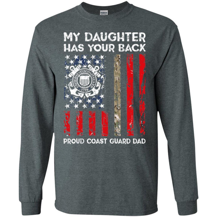 9b3a322b Buy My Daughter Has Your Back - Proud Coast Guard Dad Men T Shirt On ...
