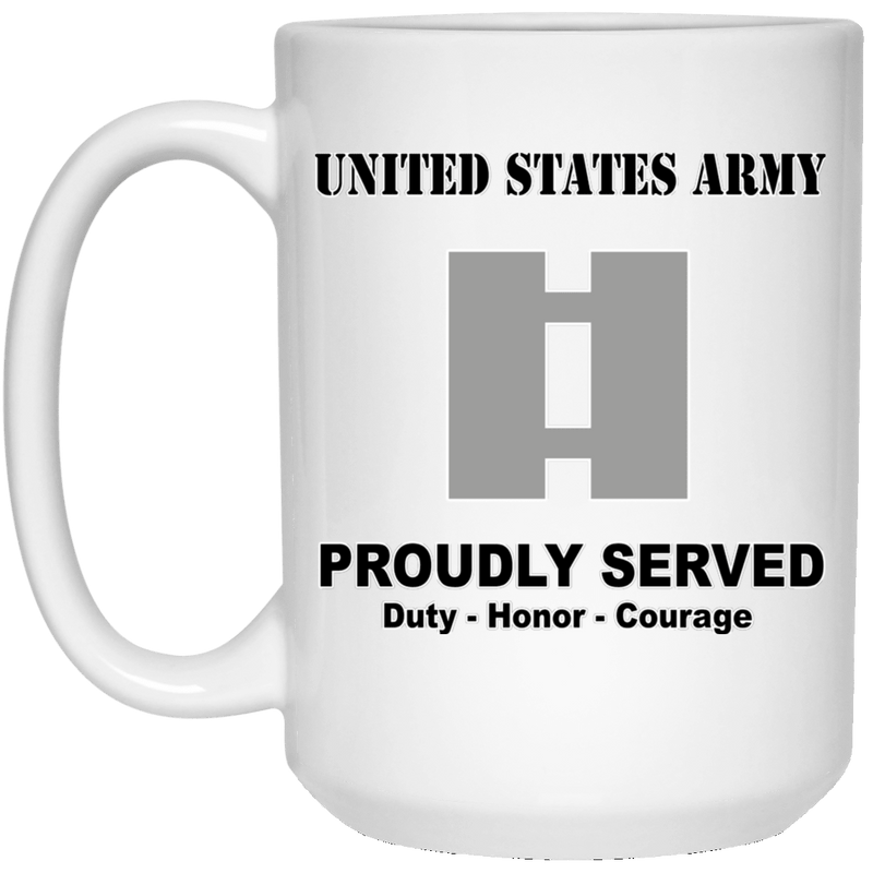US Army O-3 Captain O3 CPT Commissioned Officer Ranks White Coffee Mug - Stainless Travel Mug