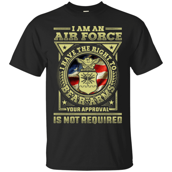 AirForce Veteran Have the Right To Bear Arms Men Front T Shirts