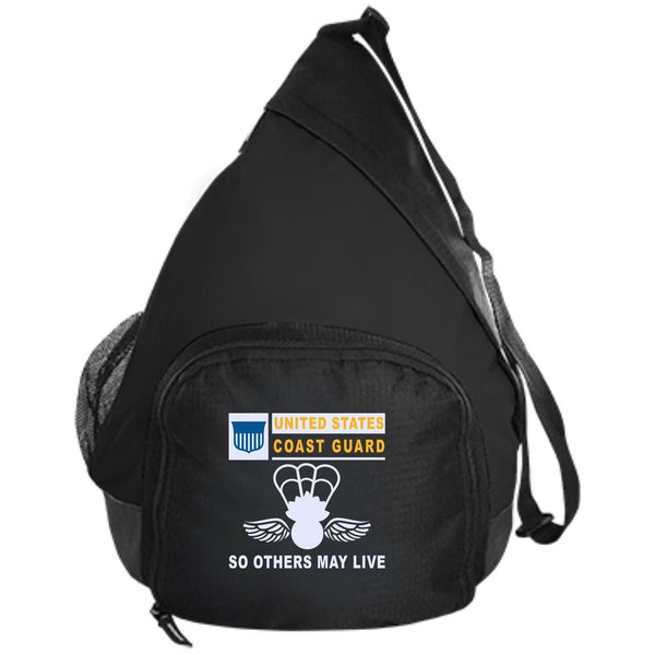 US Coast Guard Aviation Survival Technician AST- So others may live Embroidered Active Sling Pack