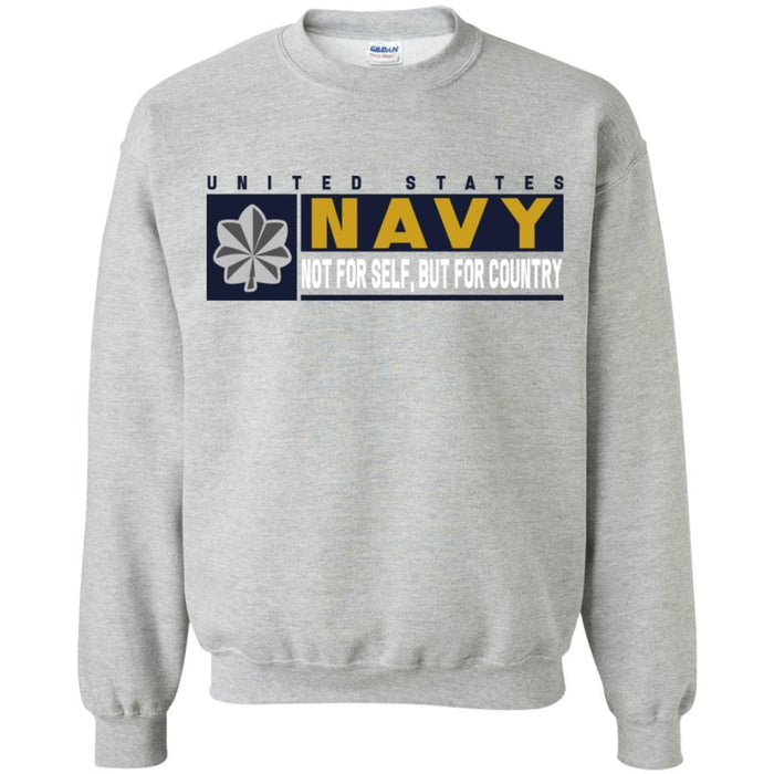 US Navy O-5 Commander O5 CDR Not For Self, But For Country Long Sleeve - Pullover Hoodie