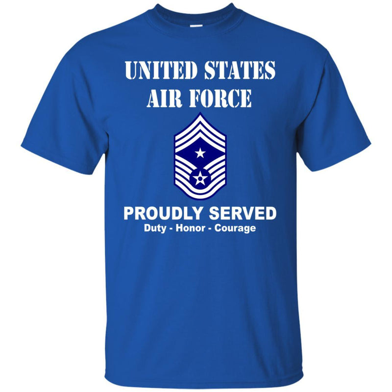 US Air Force E-9 Command Chief Master Sergeant CCM E9 Noncommissioned Officer Ranks Men Front T Shirt For Air Force