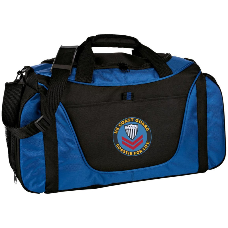 US Coast Guard E-5 Petty Officer Second Class E5 PO2 Petty Officer Collar Device Coastie For Life Embroidered Duffel Bag