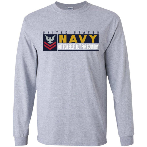 US Navy E-5 Petty Officer Second Class E5 PO2 Not For Self, But For Country Long Sleeve - Pullover Hoodie