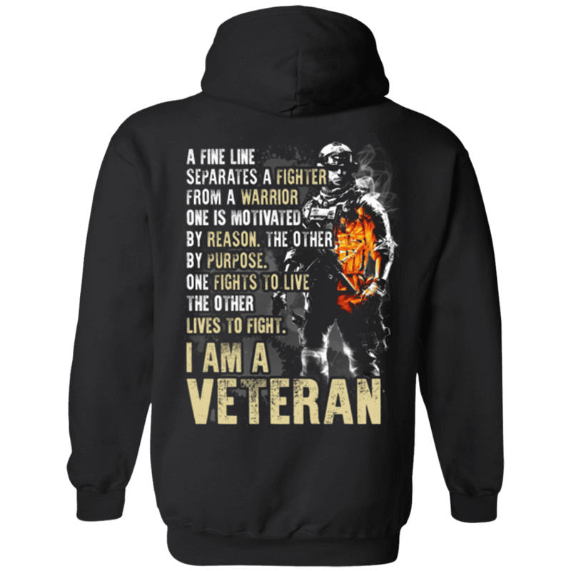 I Am A Veteran - Men Back T Shirt
