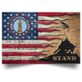 US Army National Guard Stand For The Flag Satin Landscape Poster